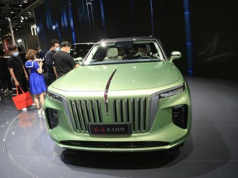 红旗E-HS9,70万级别纯电SUV,北京车展实拍