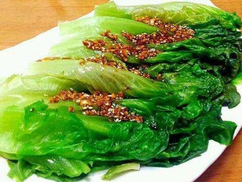 家常菜谱:蒜蓉酱油白灼生菜,韩式辣炒年糕,清蒸山药肉丸
