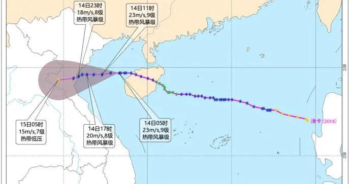 中央气象台发布台风蓝色预警:北部湾阵风10-11级