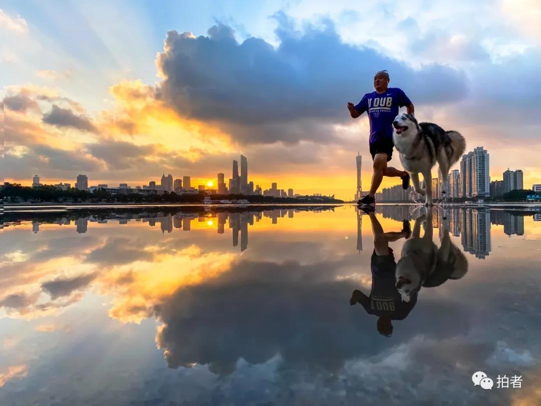 珠江边的摄影师:遛狗的时候,我在拍些什么?图片