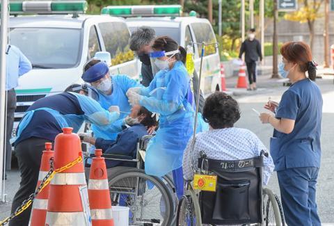 韩国釜山一医院暴发集体感染 52人确诊新冠