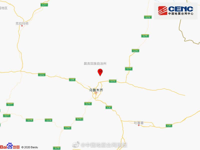 新疆乌鲁木齐市米东区发生2.1级地震,震源深度8千米图片