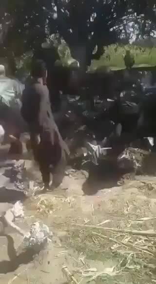 阿富汗两架军用直升机相撞坠毁,造成9人死亡
