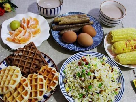 五口人早餐,小丰盛任性吃,有干有稀营养蒸,网友:就馋你家早餐