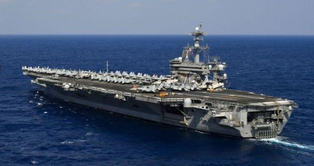 """美媒:美军""""罗斯福""""号航母一水手执勤时开枪自杀身亡"""