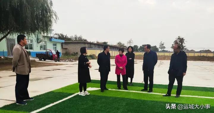 """万荣县教科局督查通化镇中心学校""""两达标 两提升""""项目工程进展情况"""