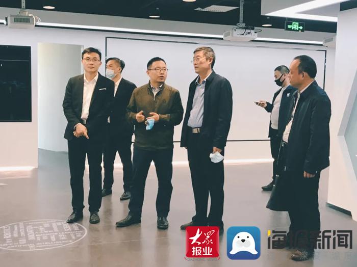 菏泽高新区党工委委员、管委会副主任谷恒俭到北京启迪大街考察