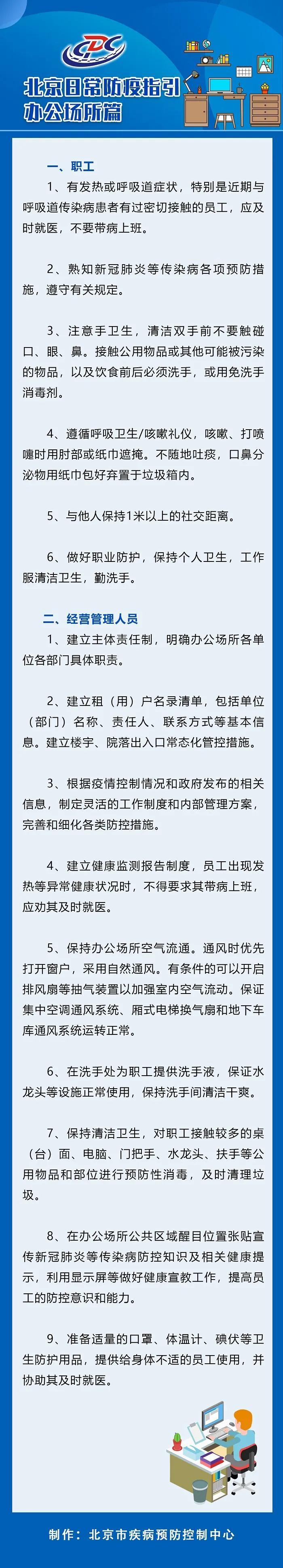 北京疾控:建立健康监测报告制度 员工发热应及时就医图片
