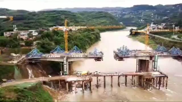 宜宾叙州区横江镇横楼大桥进展