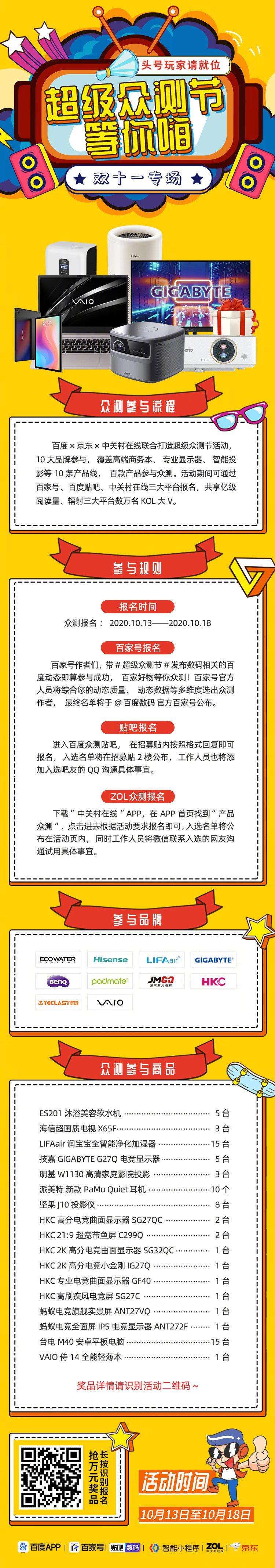 百度×京东×中关村在线联合打造超级众测节活动……