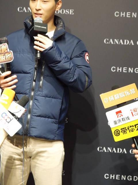 窦骁成都加拿大鹅品牌活动,分享互动体验展的感受……