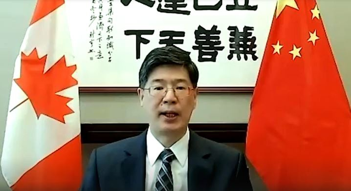 """我大使警告加方:勿向香港暴徒提供""""政治庇护""""图片"""