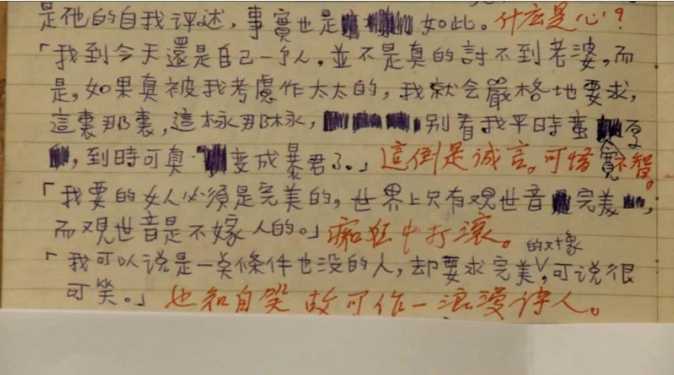 周梦蝶日志,南怀瑾批,《化城再来人》影戏截图。