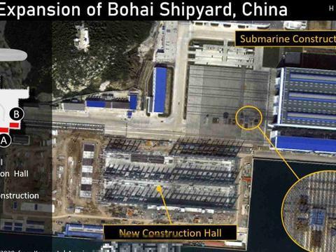 最新卫星图显示,渤海造船厂容量扩张,中国或增加6艘096型核潜艇