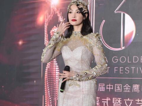 历届金鹰女神回顾:宋茜大方,刘诗诗端庄,她美如花仙子!