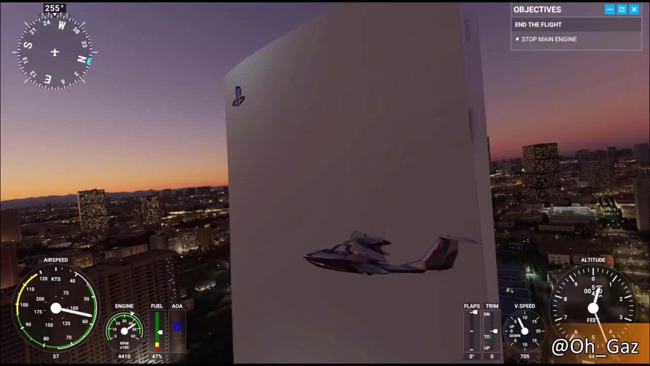 《微软飞行模拟》最新Mod:PS5主机替换索尼总部大楼