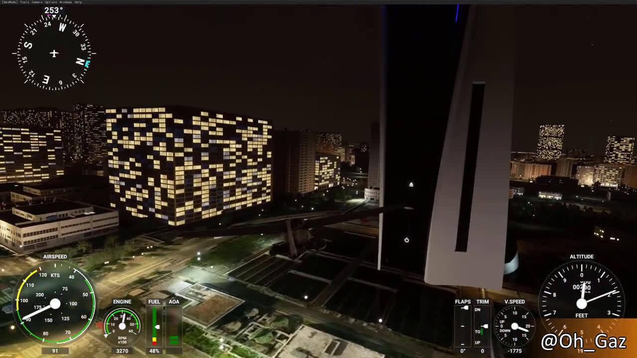 《微软飞行模拟》Mod再整活:PS5替换索尼总部大楼