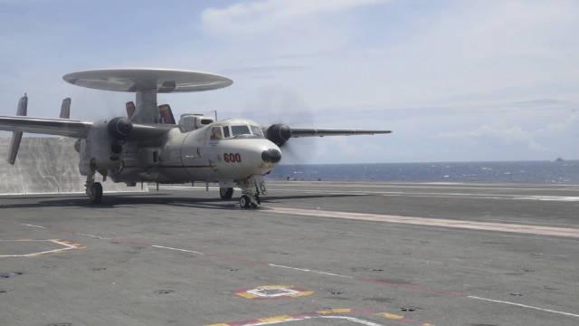 10.10,印度洋,CVN-76罗纳德·里根号训练的视频