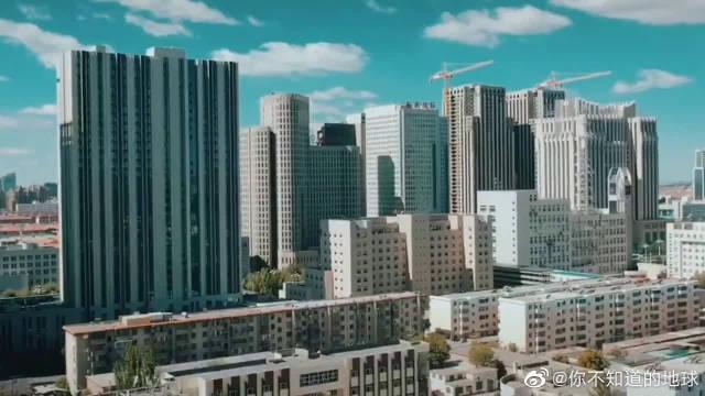航拍内蒙古包头市,这建筑直逼一线城市,太繁华了!