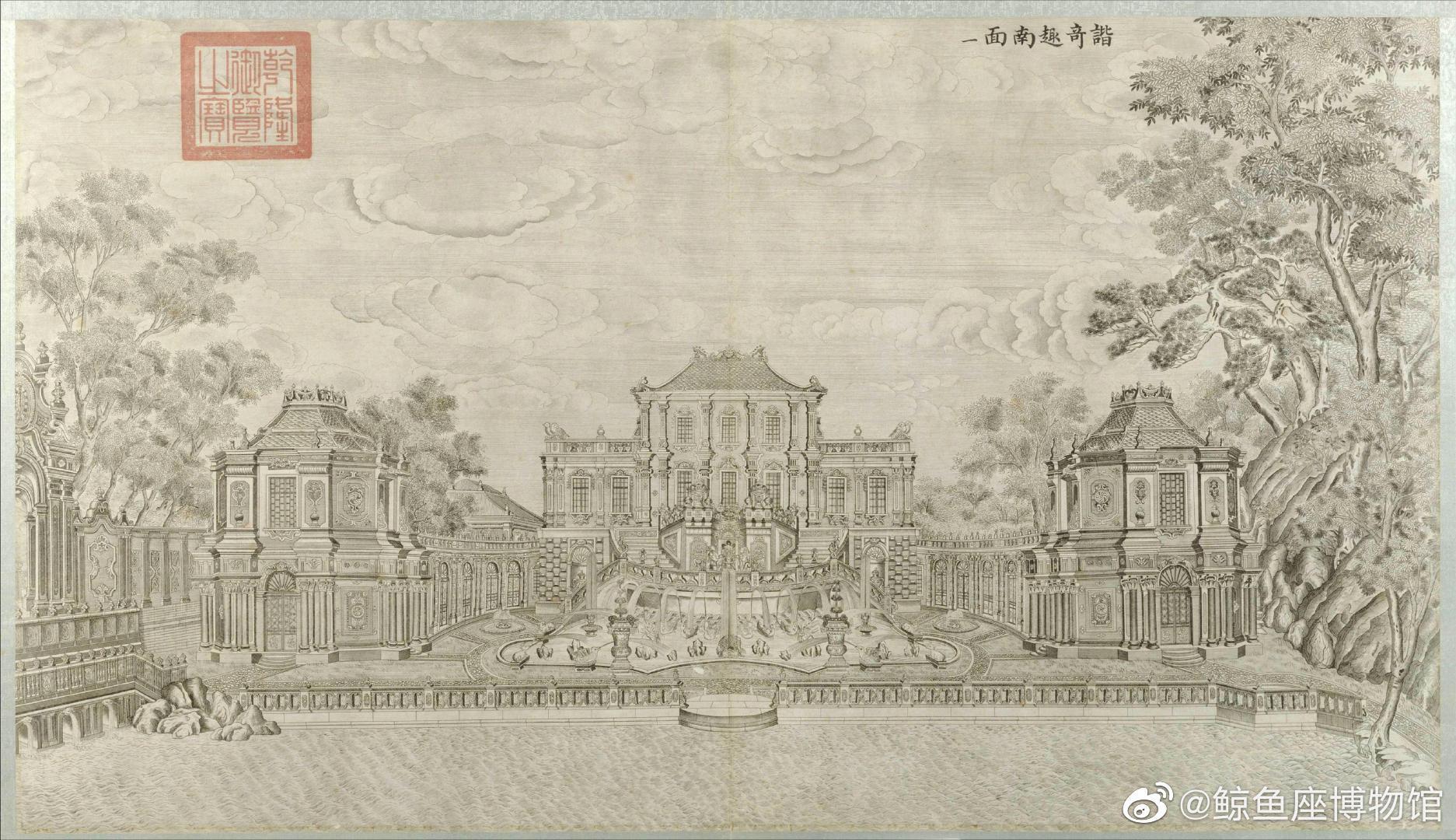 郎世宁 | 圆明园铜版画 对于这个历史特定时期的产物来说……