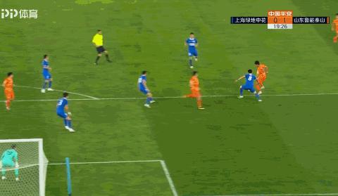 申花0-1鲁能:佩莱抢点破门,段刘愚放倒莫雷诺,鲁能暂时领先