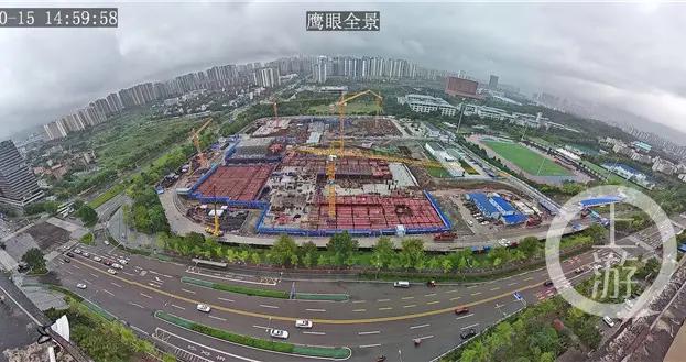 重庆高校最大体育场馆进入主体结构施工 预计2年后建成