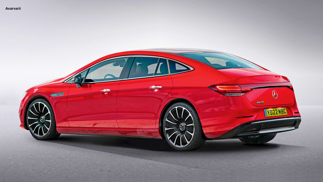 Model S对手来了 梅赛德斯-奔驰EQE渲染图曝光