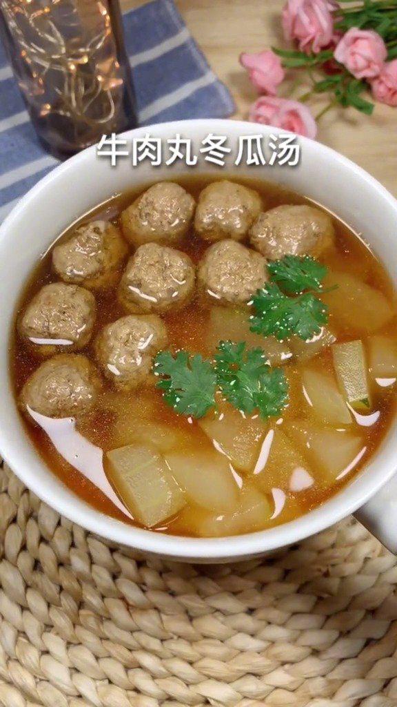 牛肉丸子冬瓜汤,美味又减脂,小仙女们最爱~