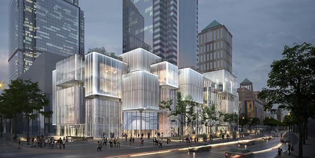 """这家购物广场改造设计以""""像素城市""""概念立题,绝美水晶宫抢镜!"""