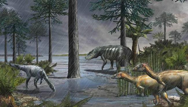 """2.3亿年前,地球下了200万年的雨,一把将恐龙推上了""""王位""""!"""