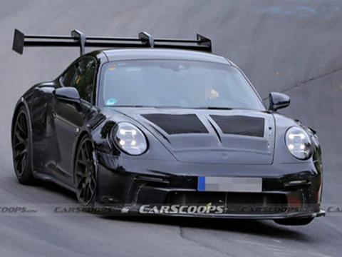 全新一代保时捷911 GT3 RS赛道测试谍照曝光 这大尾翼真nice!