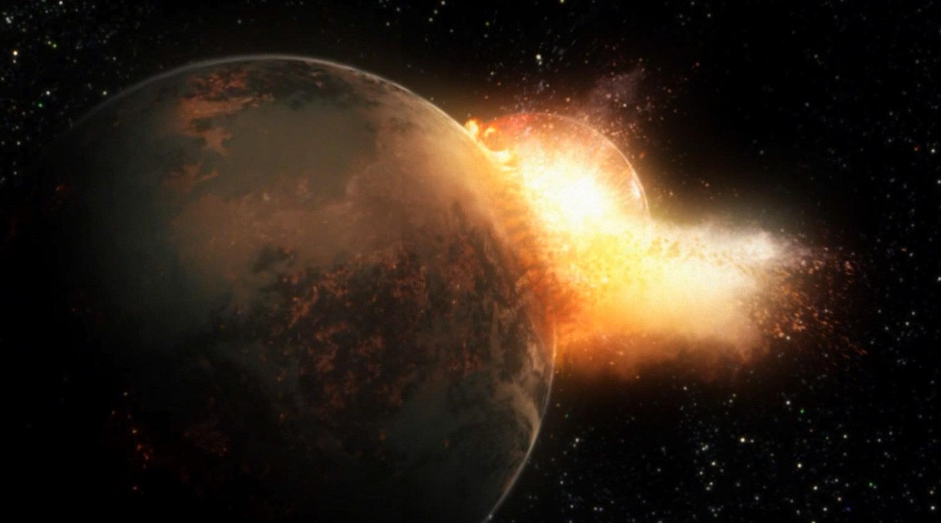 远古时代,地球与另一行星天地大冲撞,后果却让人大呼惊喜!