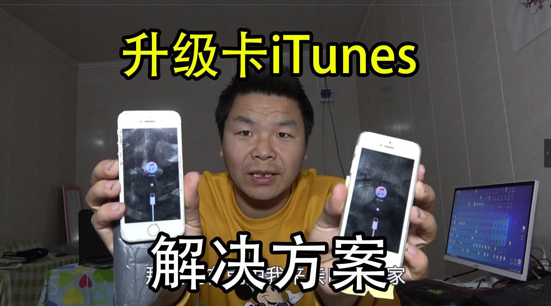 苹果手机保资料升级结果卡itunes……
