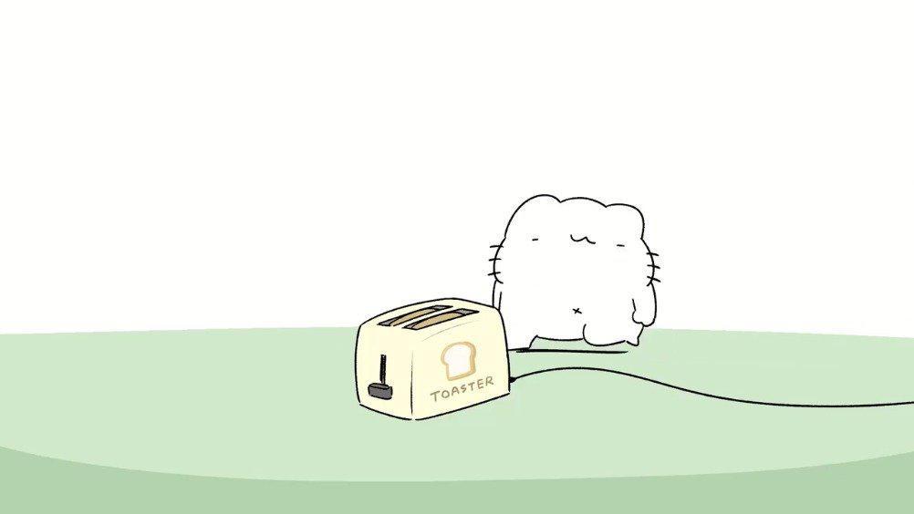 暴躁沙雕猫系列——烤面包机 twi:からめる