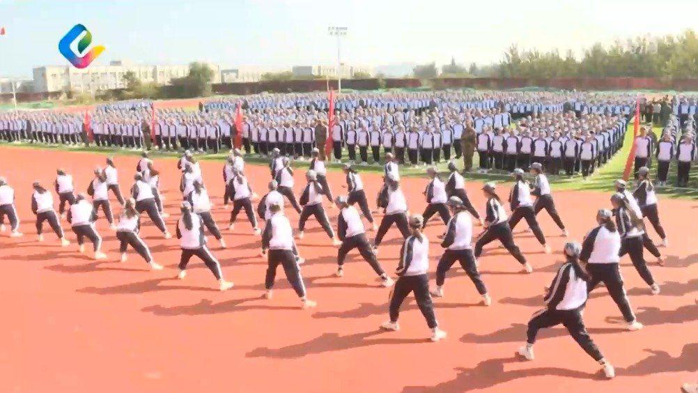 济南济南职业学院开学典礼暨2020级新生军训汇报表演举行