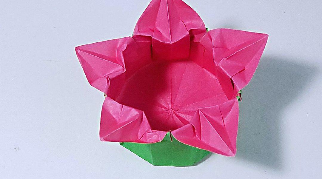 折纸花瓣盒子
