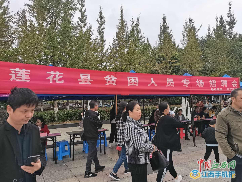 莲花县举行就业扶贫招聘大会(图)