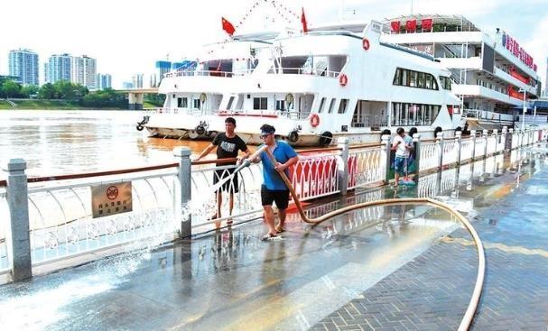 邕江出现今年以来最大洪水,洪峰水位69.01米