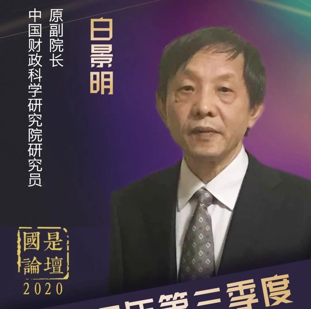 白景明:中国积极财政政策发力呈三大特点,财政赤字规模增幅较大