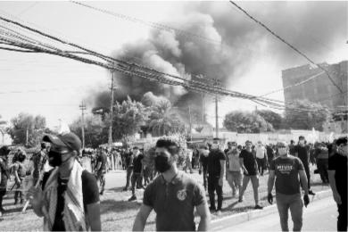 伊拉克库民党巴格达总部遭示威者纵火