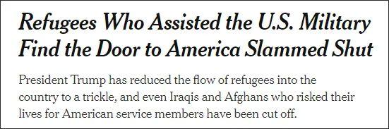 他们冒死帮助美军,如今被美国关在门外