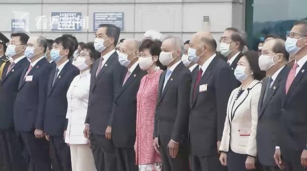 视频|祝福祖国!香港特区政府举行国庆升旗仪式图片