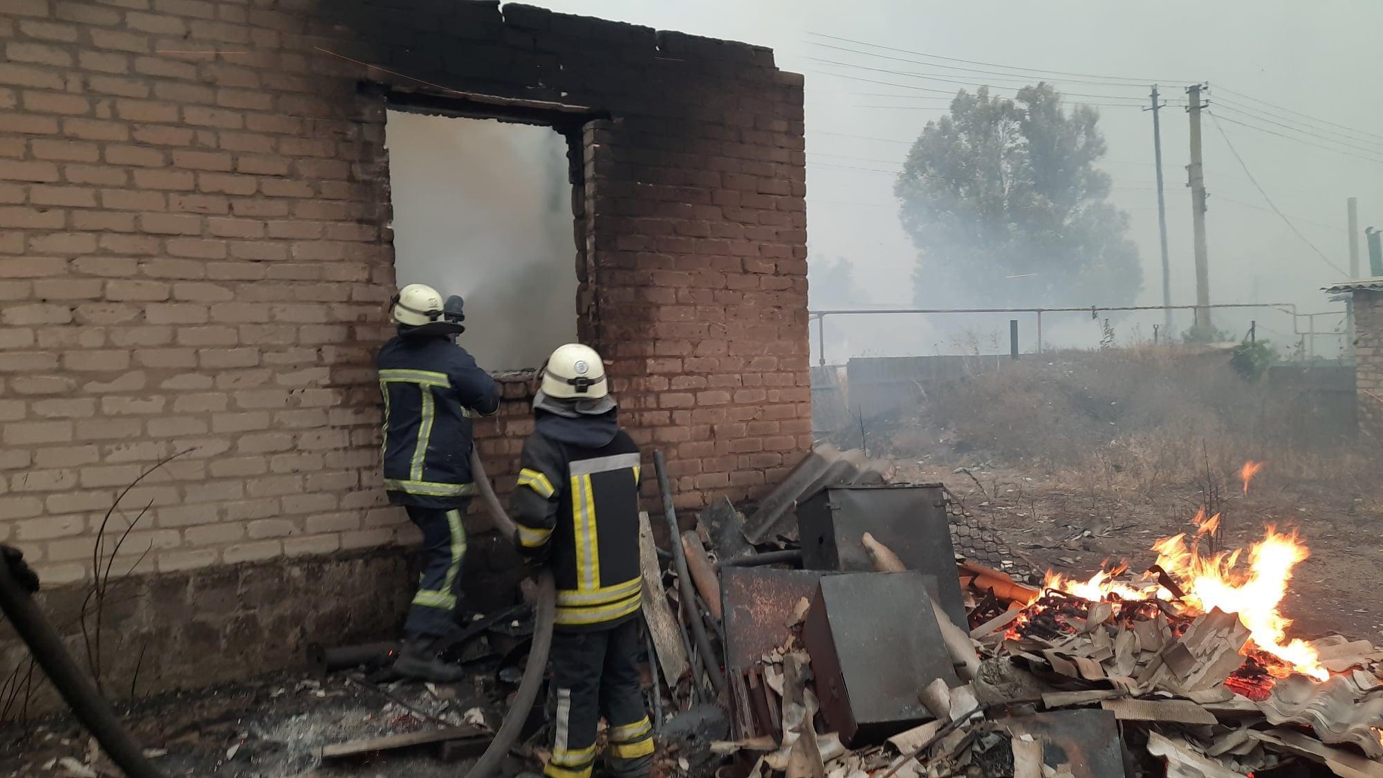 乌克兰东部林火燃烧