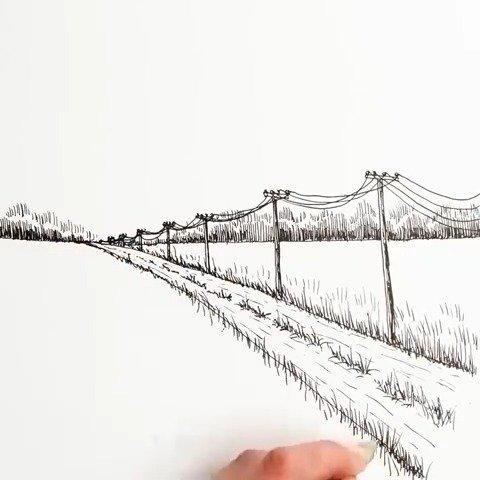 羡慕会画画的人,见过的美景都能以自己的风格记录下来。 cr_网络