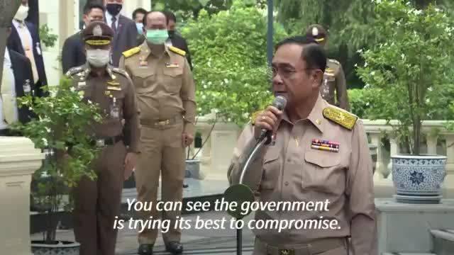 泰国总理巴育于今天下午接受电视台采访时说……