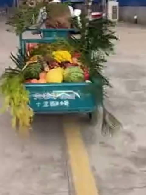 许魏洲骑走粉丝应援三轮车这也太搞笑了吧……
