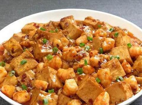 家常美食:虾仁焖豆腐,青椒炒蛋,芡汁豆腐