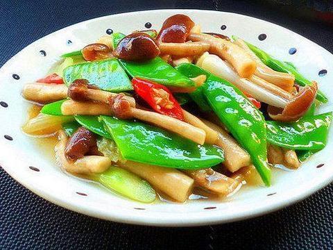 家常美食:茶树菇炒荷兰豆,糖醋豇豆,家常回锅肉
