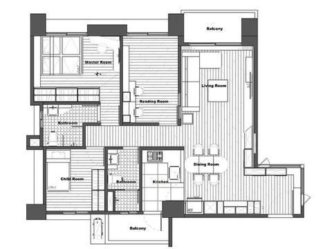 设计清新简约的三房装修,令人羡慕的亲子空间,自然淳朴特别亲切