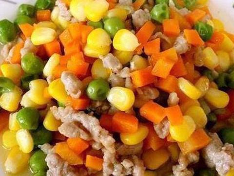家常美食:肉末炒三丁,红烧肉烧干豆腐结,梅干菜炒豇豆